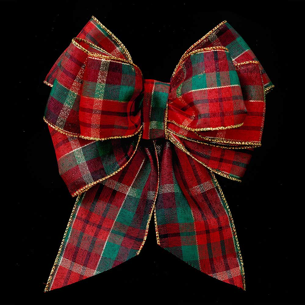 "2 1/2"" WIRED BOLD PLAID RIBBON"
