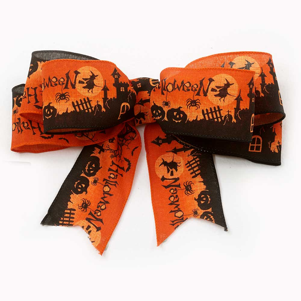"2 1/2"" WIRED OCTOBER RIBBON"
