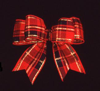 "1 3/8"" WIRED CLASSIC PLAID RIBBON"