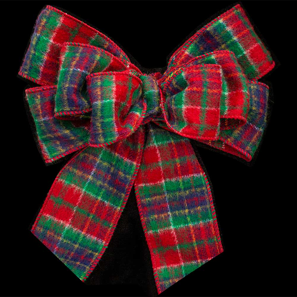 "2 1/2"" WIRED FELT PLAID RIBBON"