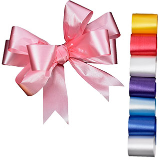 "2 1/2"" EMBOSSED POLY SATIN RIBBON"