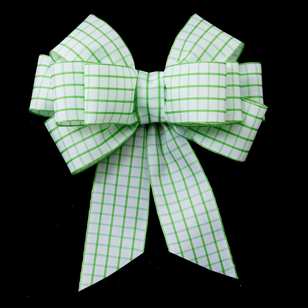 "1 3/8"" WIRED SPRING SQUARES RIBBON"