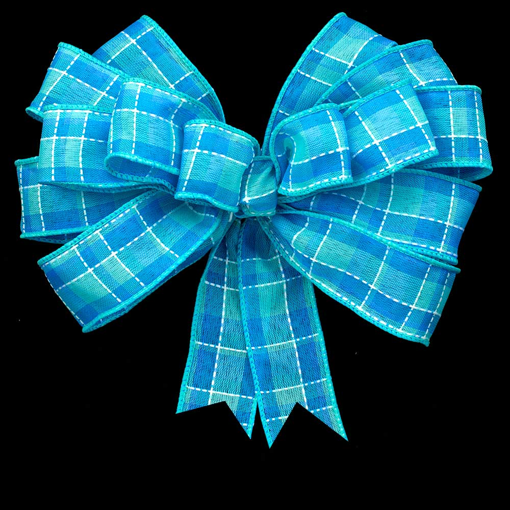 "2 1/2"" WIRED SPRING PLAID RIBBON"