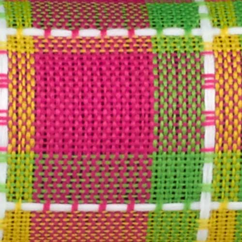 "2 1/2"" WIRED SPRING PLAID,YELLOW"