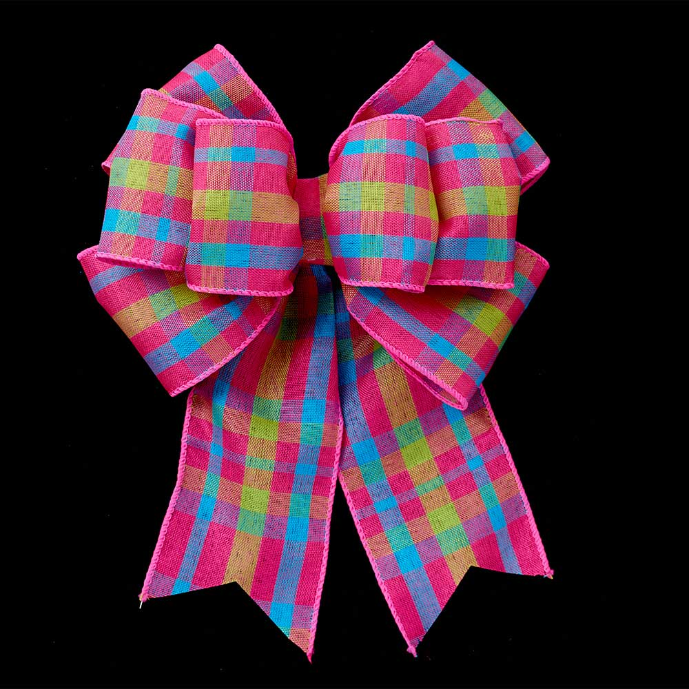 "2 1/2"" WIRED CHIC PLAID RIBBON"