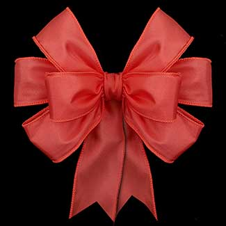 "2 1/2"" WIRED TAFFETA, RED RIBBON"