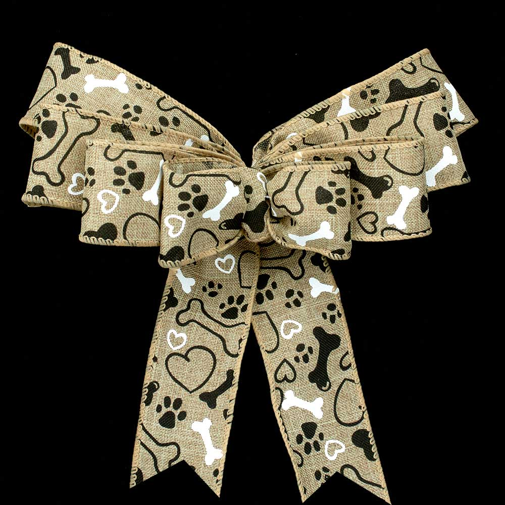 "1 3/8"" WIRED DOG DAYS RIBBON"