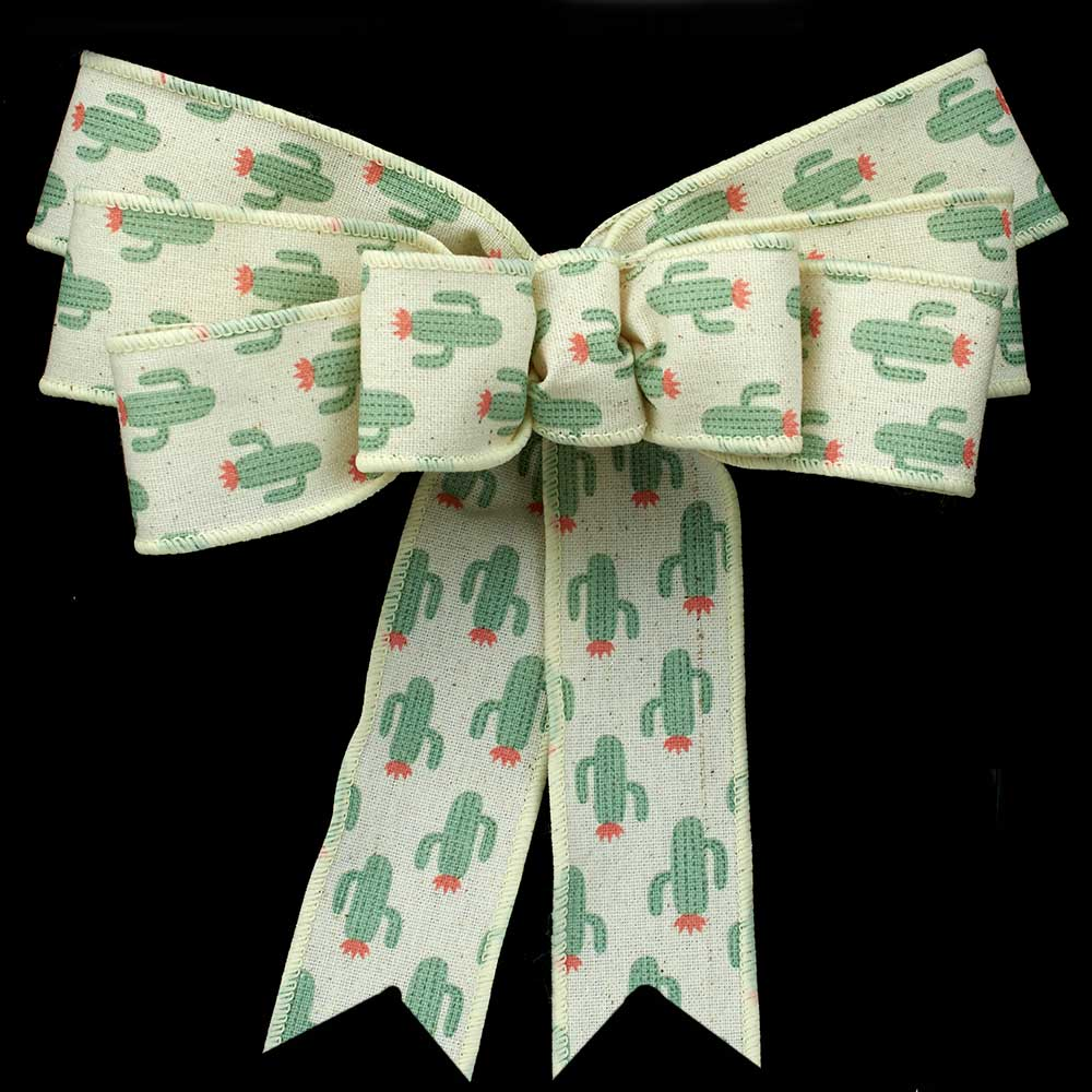 "1 3/8"" WIRED CACTUS RIBBON"