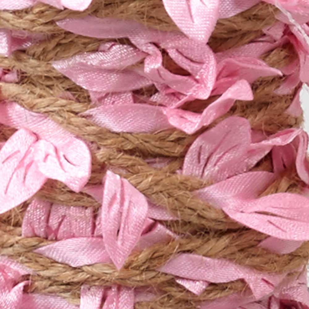 JUTE WITH LEAVES,PINK