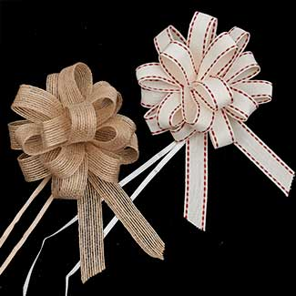 "4"" NATURAL PULL BOWS RIBBON"
