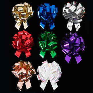 "12"" METALLIC PULL BOW RIBBON"