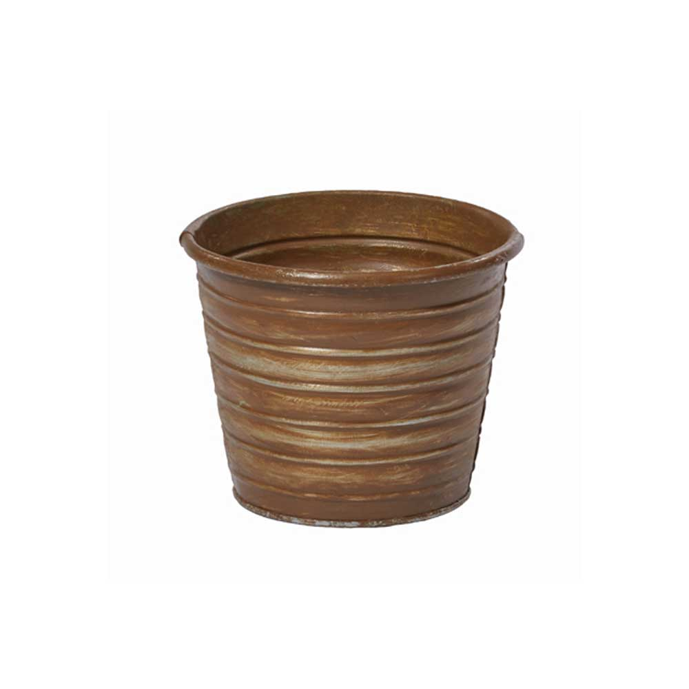 "4.5"" TIN POT, RUST"