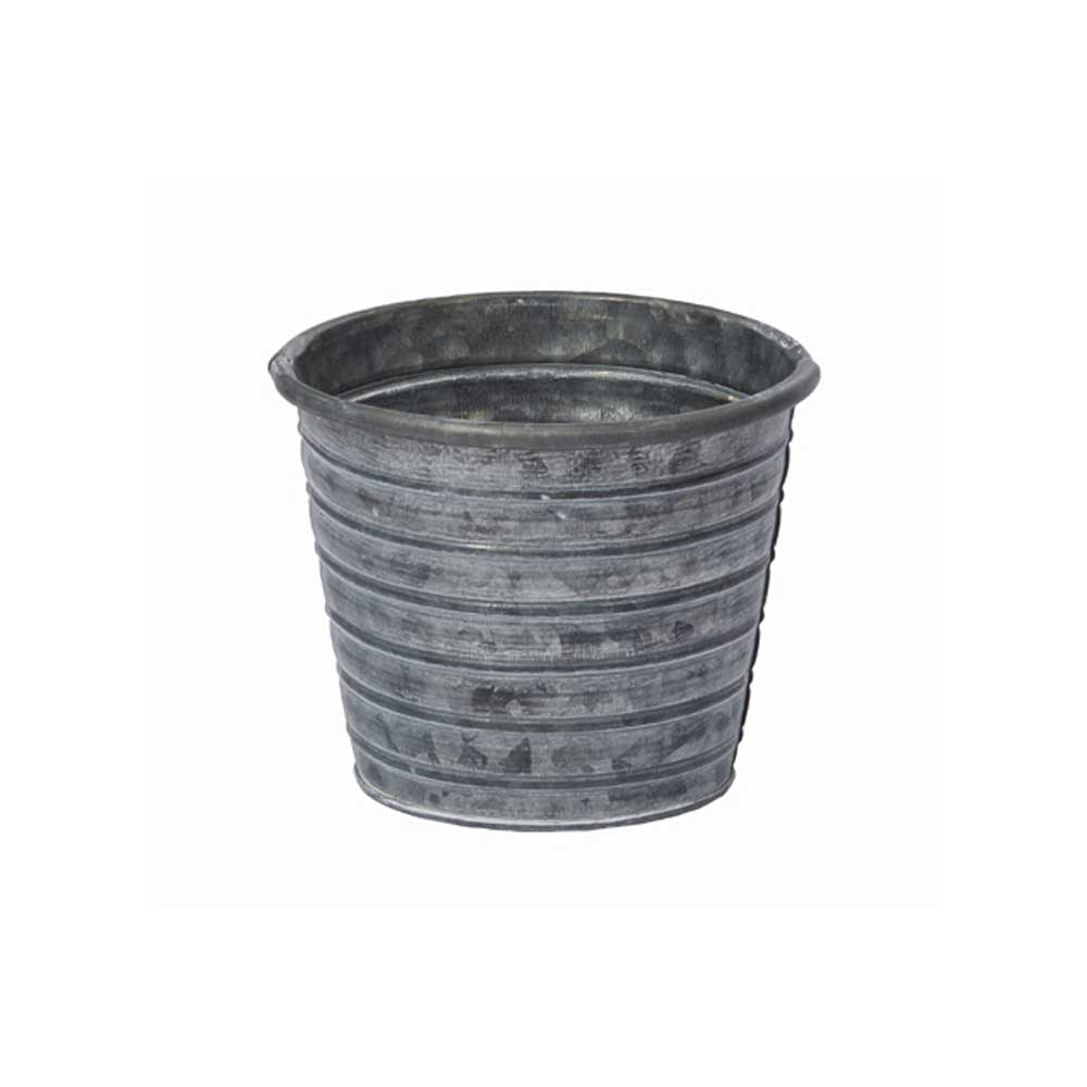 "4.5"" TIN POT, GALVANIZED"