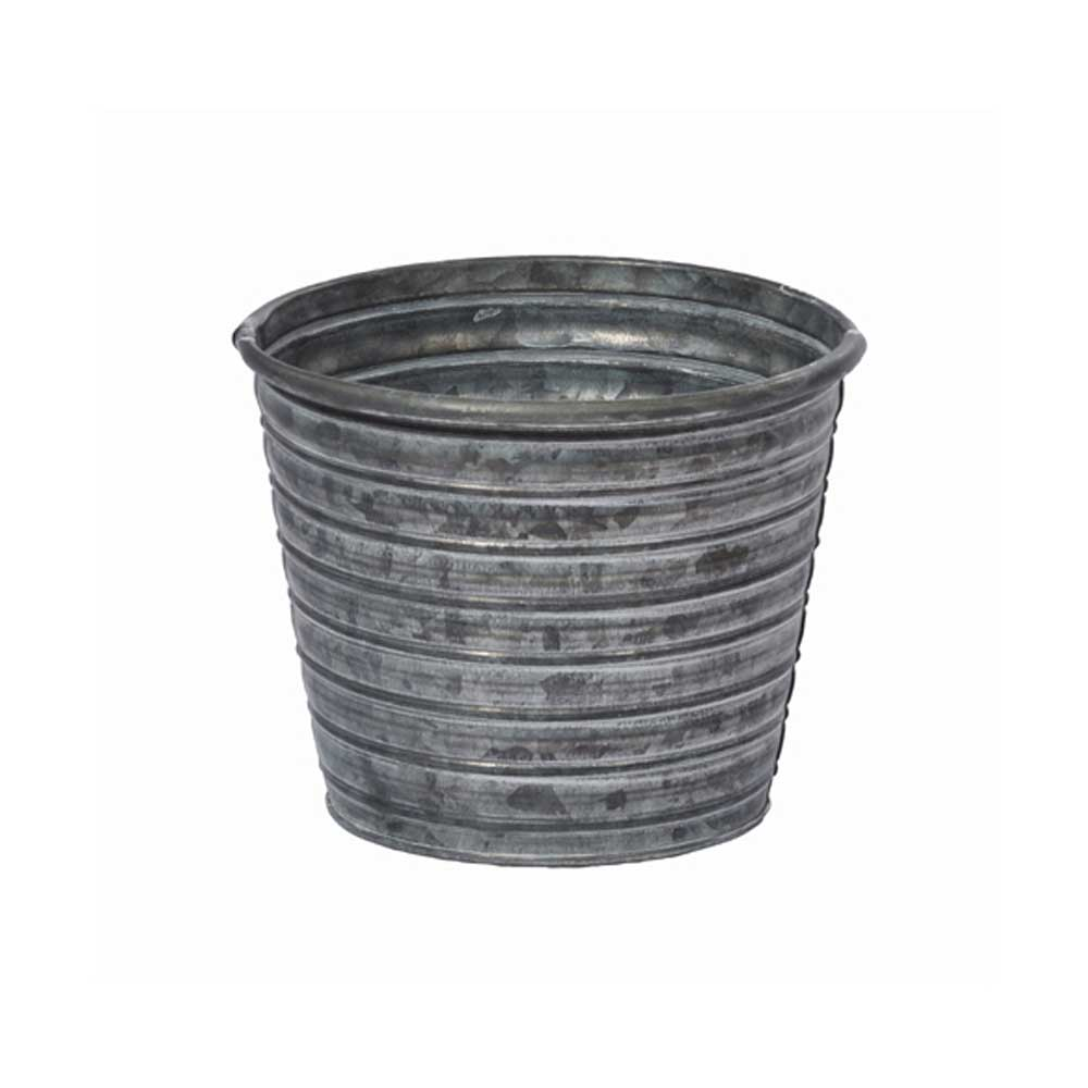 "5.5"" TIN POT, GALVANIZED"
