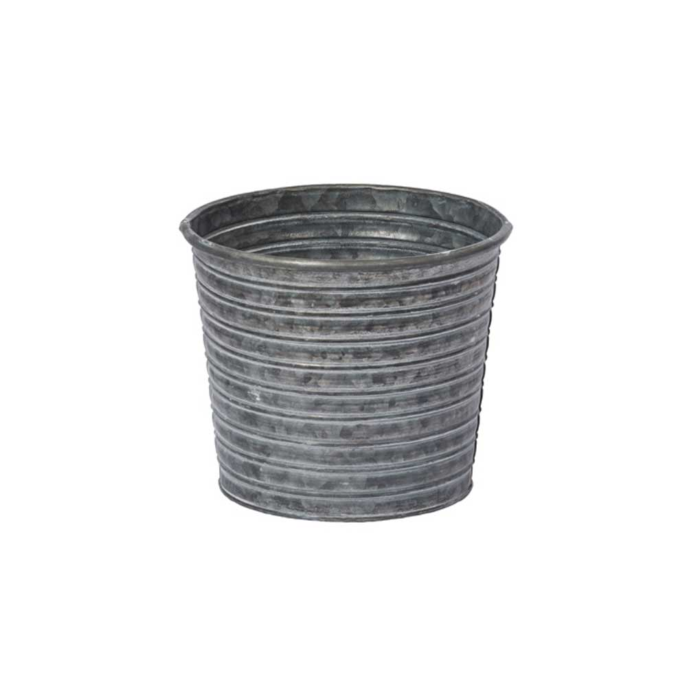 "6.5"" TIN POT, GALVANIZED"