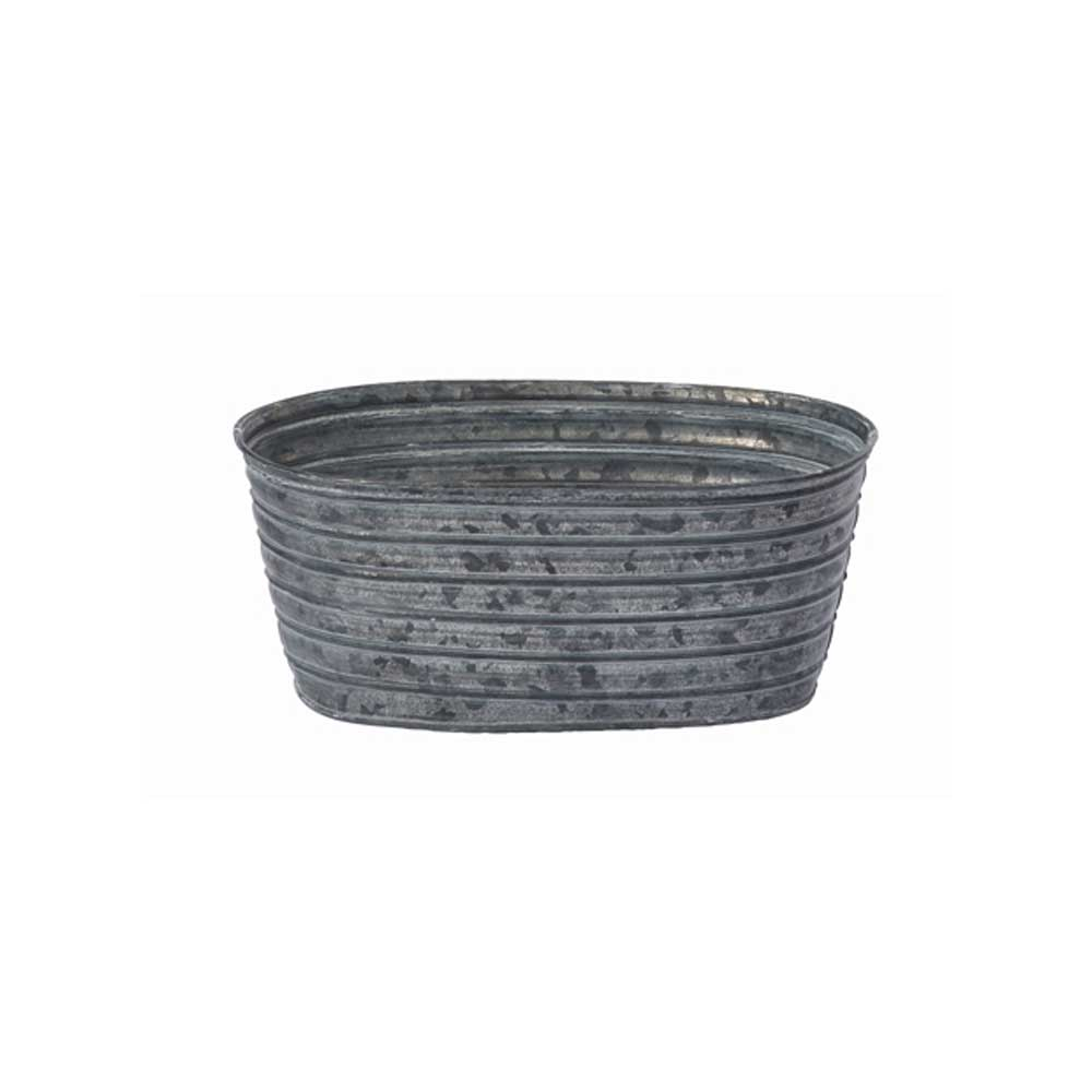 "8.5"" OVAL TIN, GALVANIZED"
