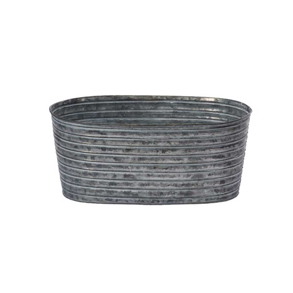 "12"" OVAL TIN, GALVANIZED"