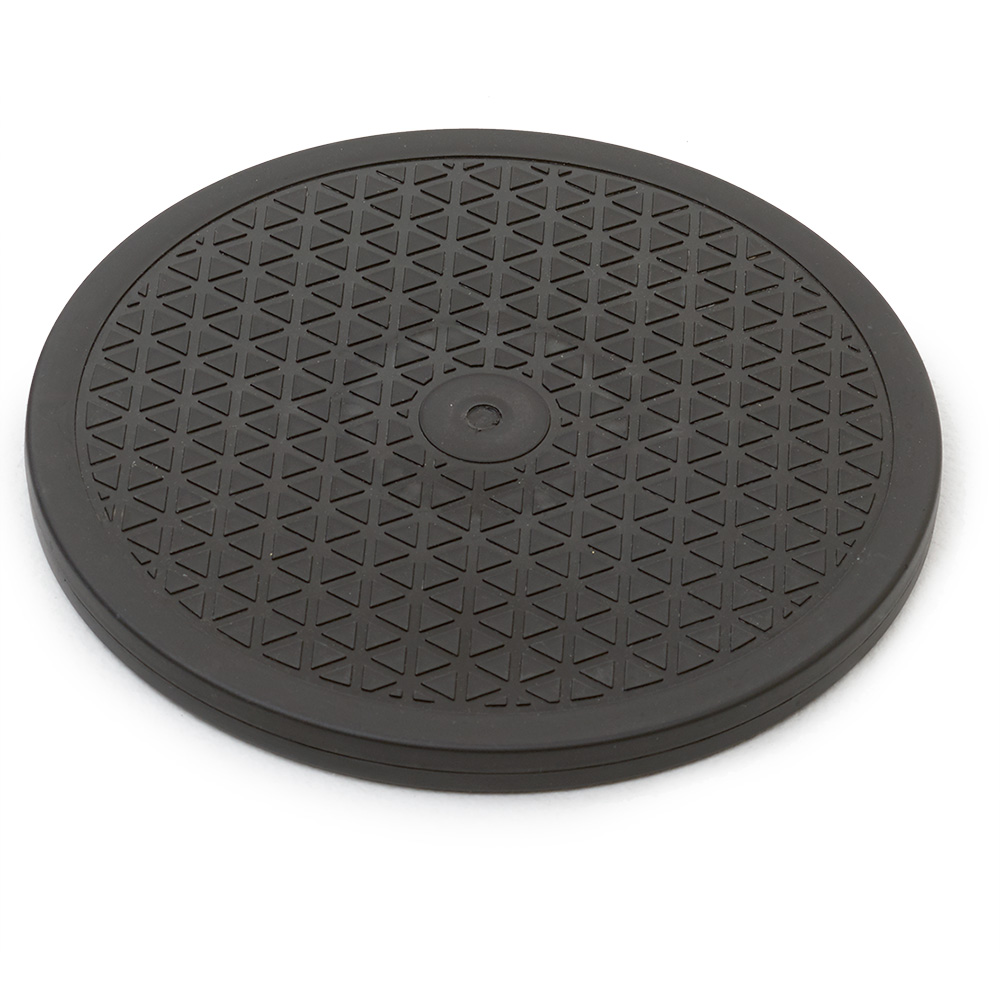 "10"" PLASTIC LAZY SUSAN, BLACK"