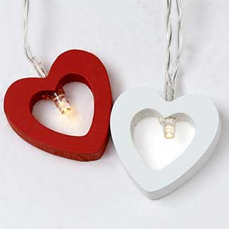 4' LED HEART GARLAND