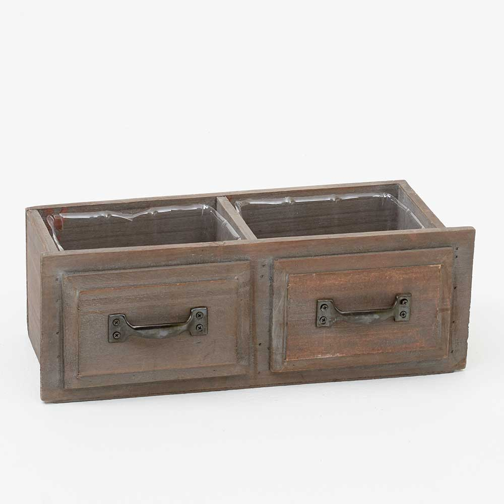 "4""DOUBLE DRAWER POT W/LINE"