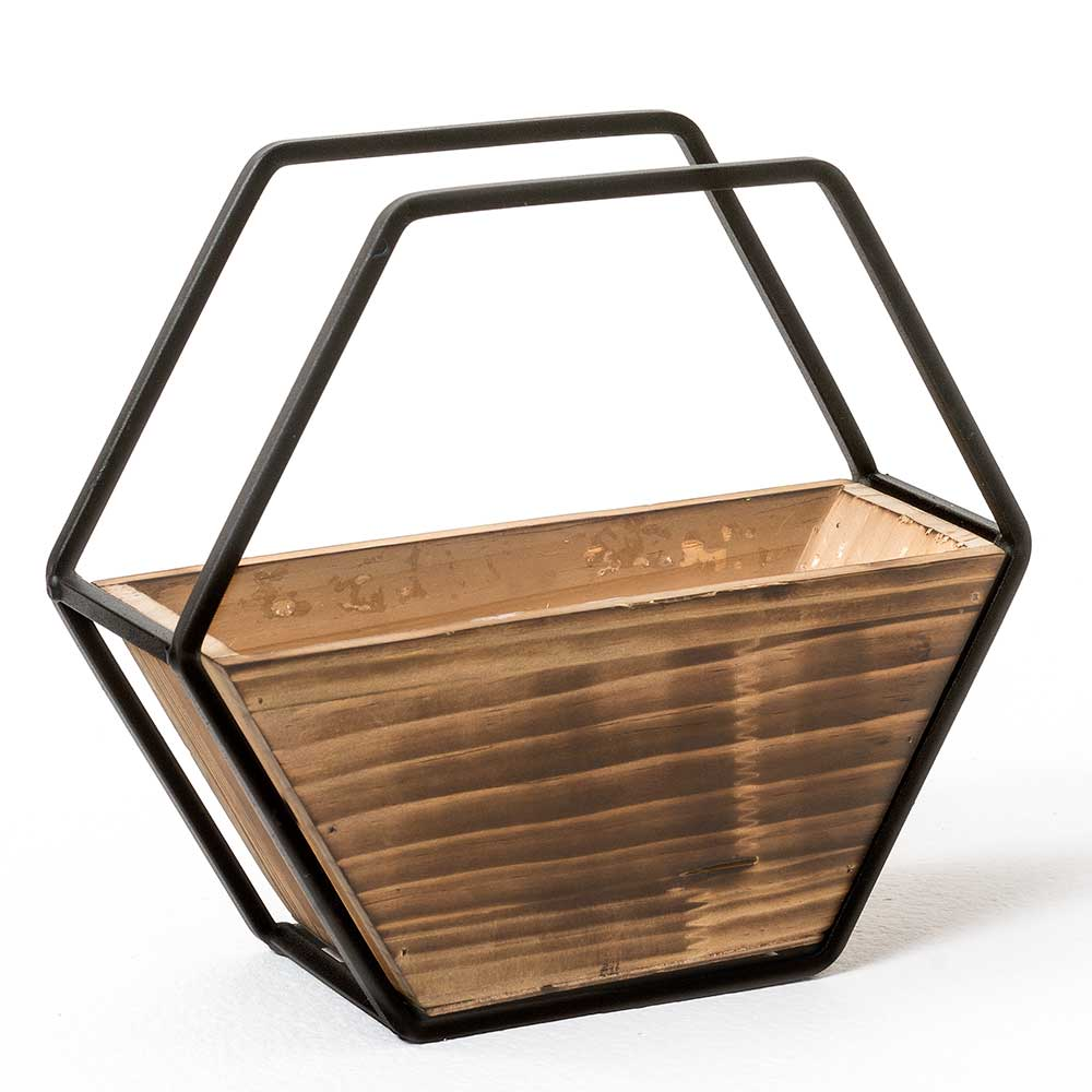 "10"" HEXAGON WALL PLANTER"