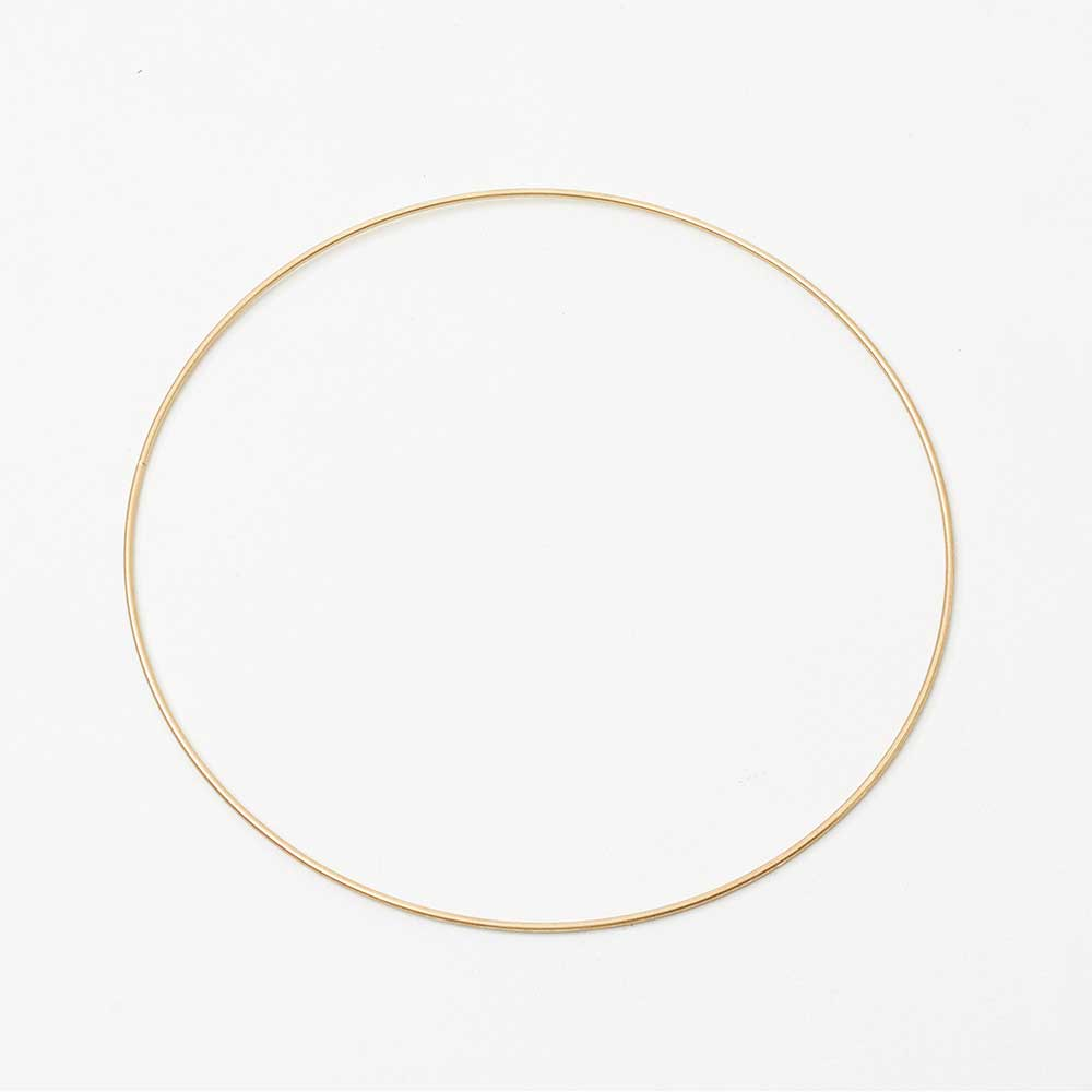 "8"" GOLD METAL HOOPS"