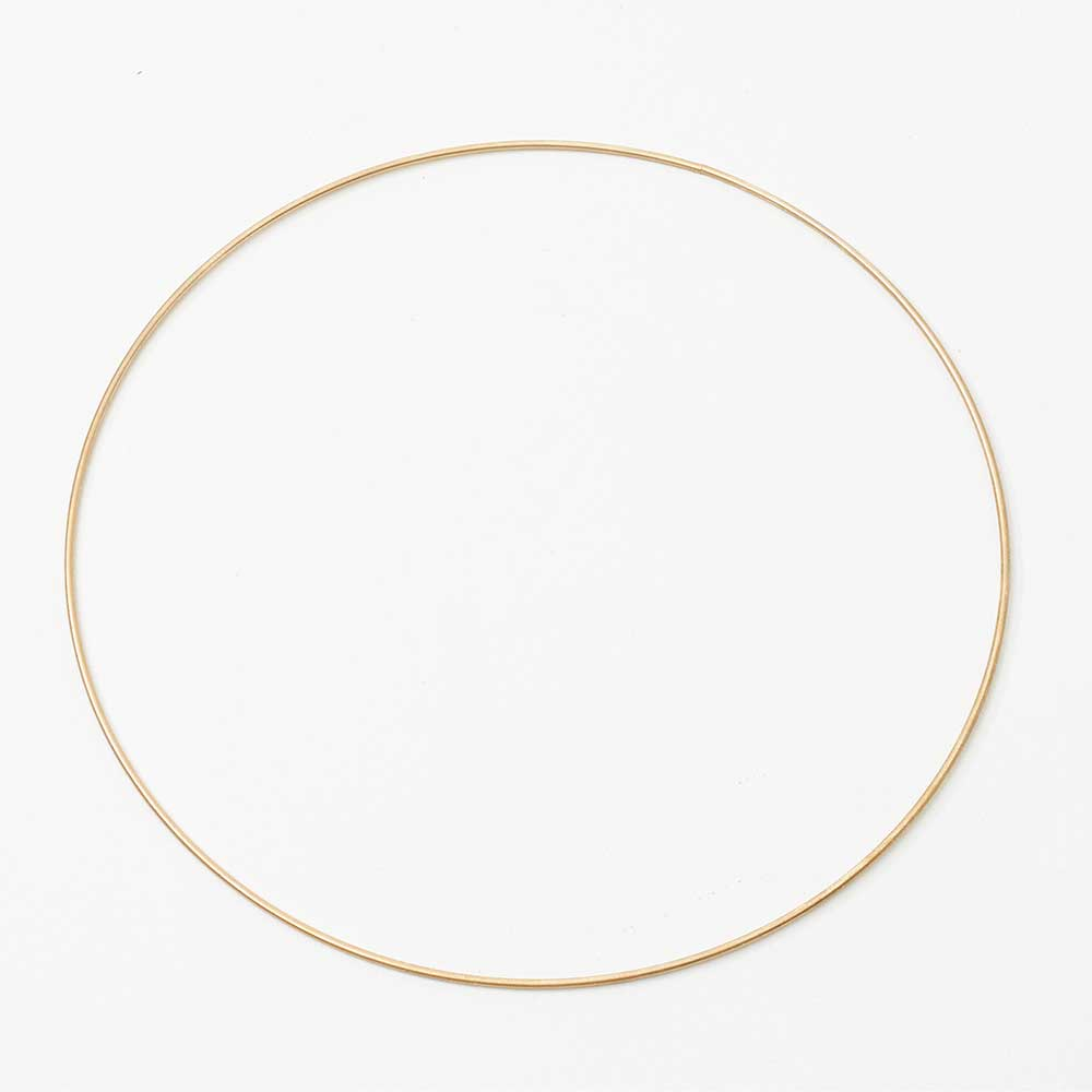 "10"" GOLD METAL HOOPS"