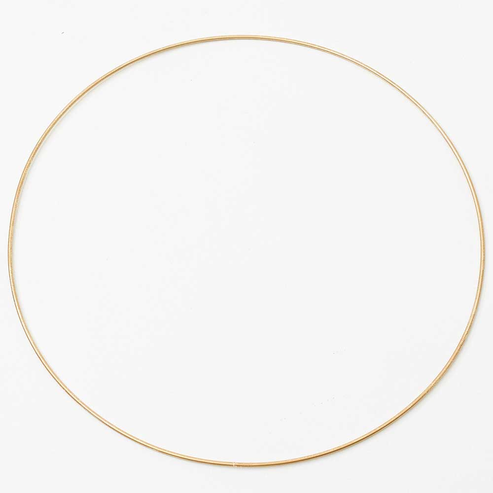 "12"" GOLD METAL HOOPS"