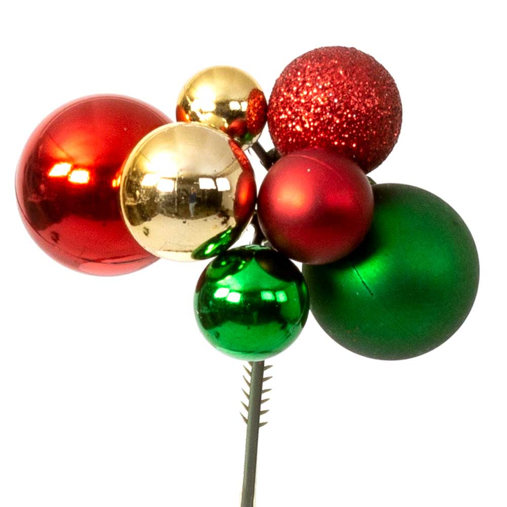 "ASST 2"" CHRISTMAS BALL PICKS"