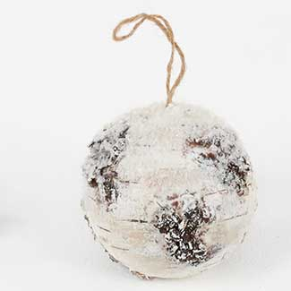 "4.75"" FAUX BIRCH BALL"