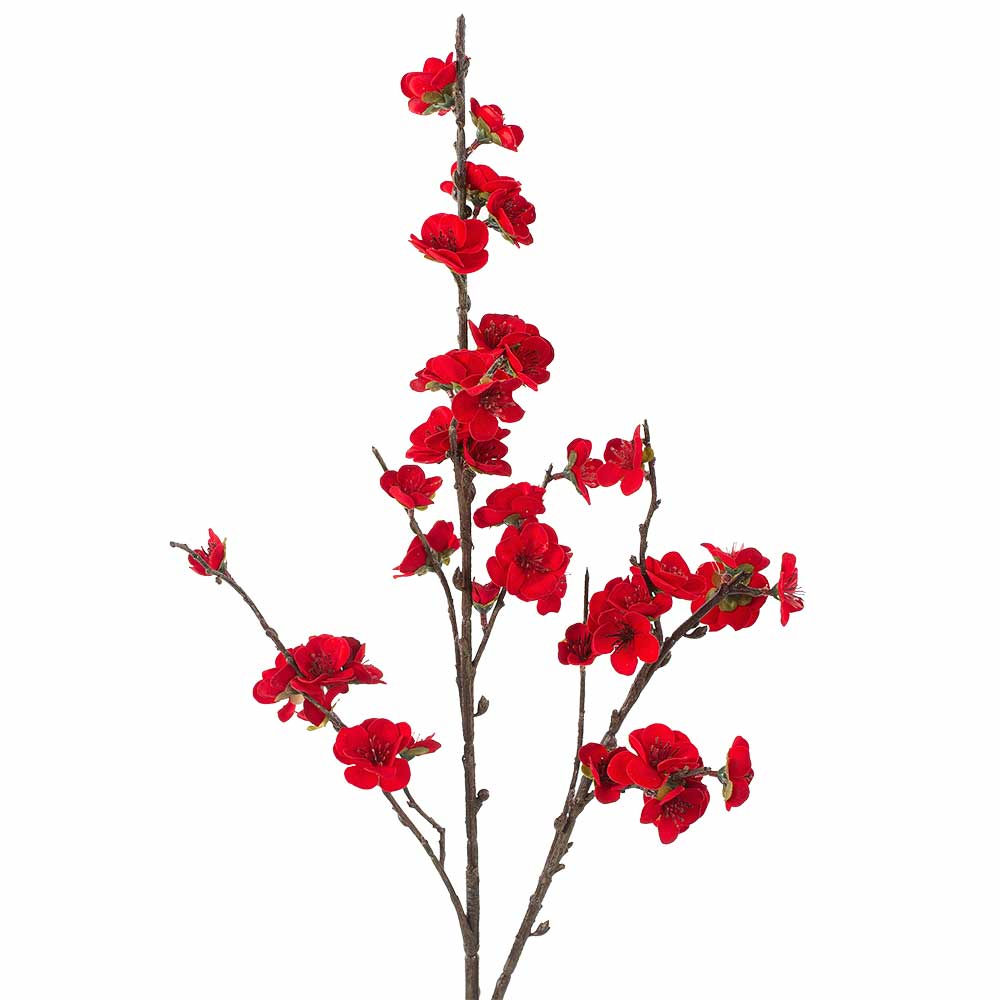 "30"" RED PLUM BLOSSOM SPRA"
