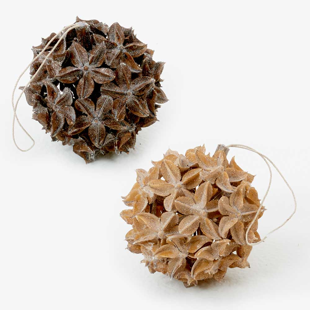 "4"" ICED STAR ANISE BALL"