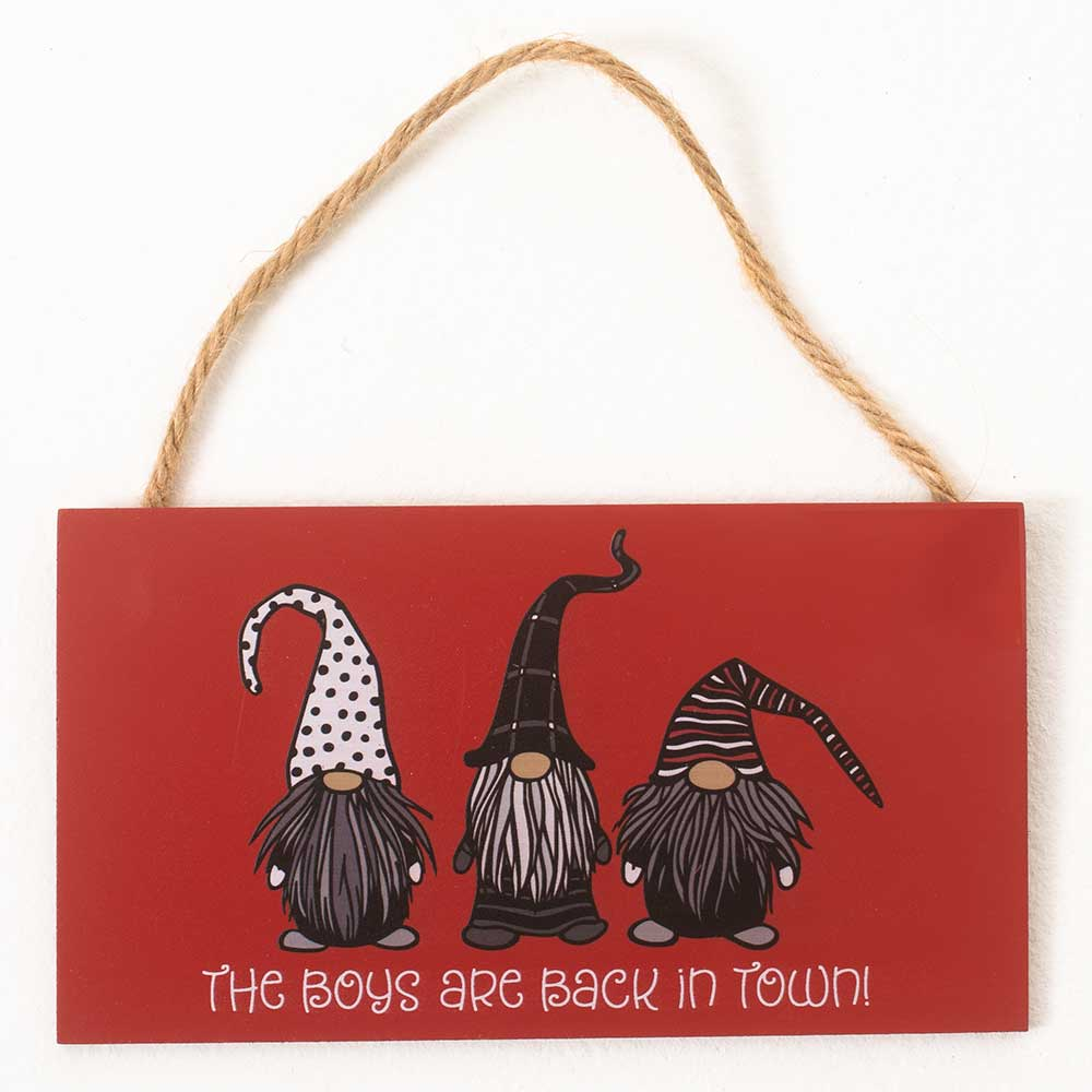 "4""X8"" BOYS ARE BACK SIGN"