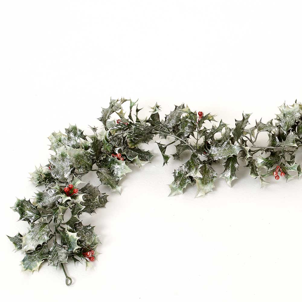6' HOLLY GARLAND W/BERRIES