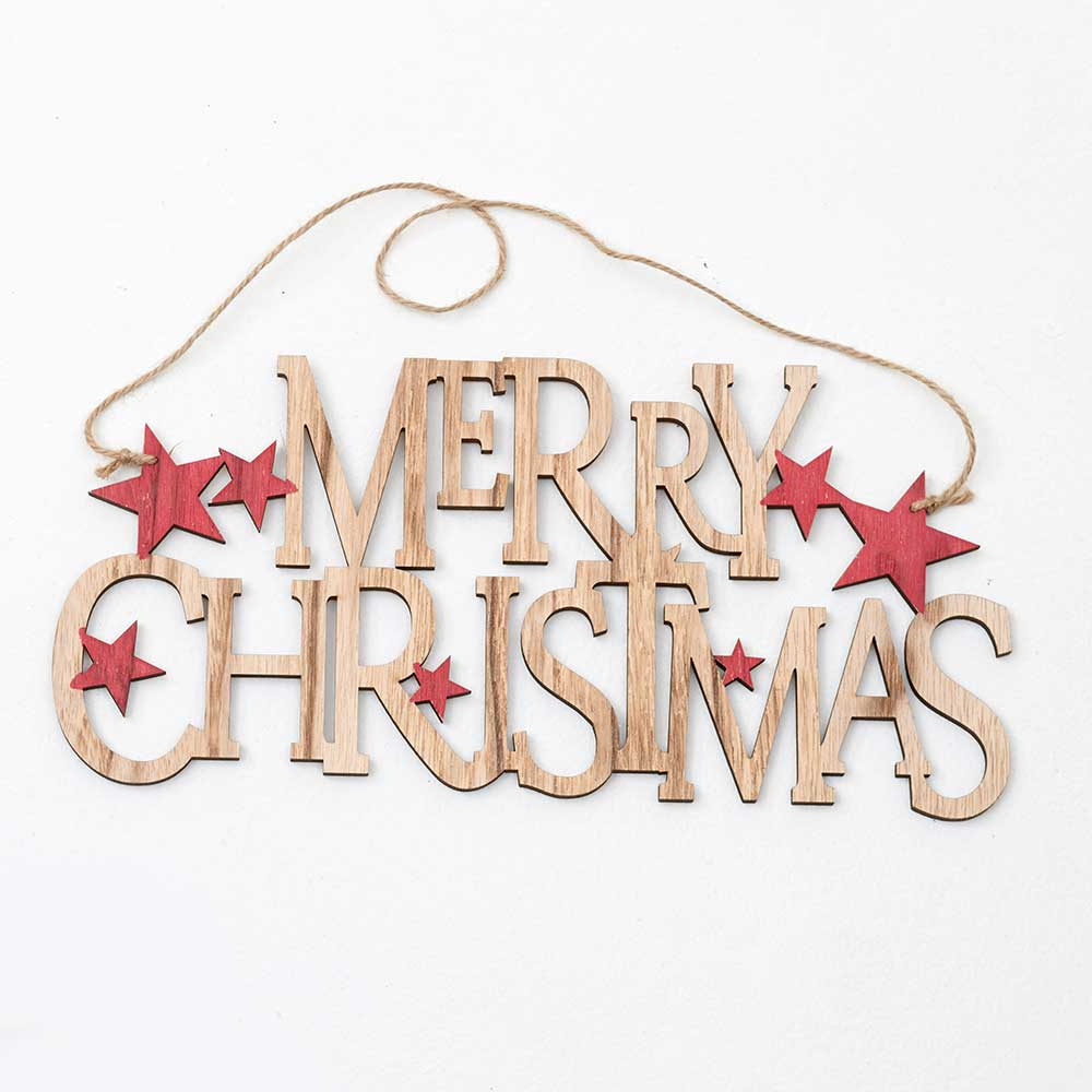 "12X6""WD MERRY XMAS SIGN"