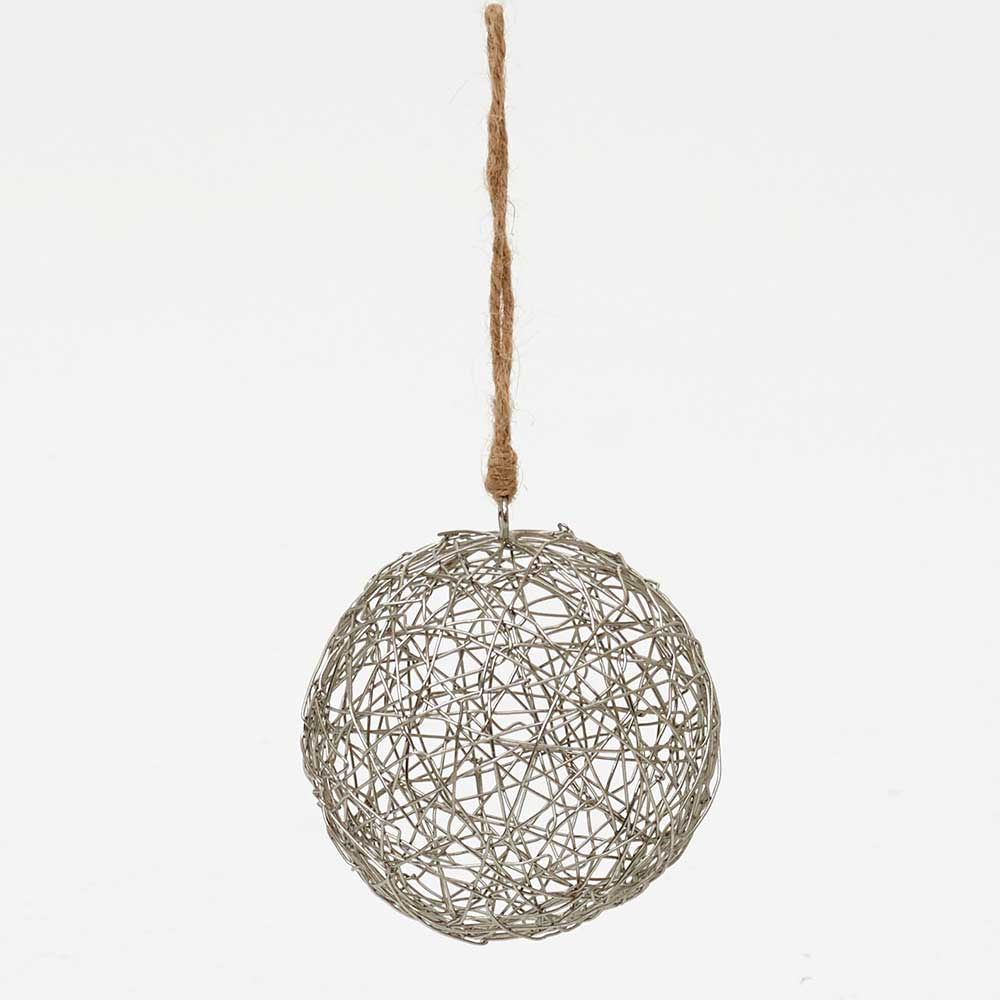 "3.5"" WIRED BALL ORNAMENT"