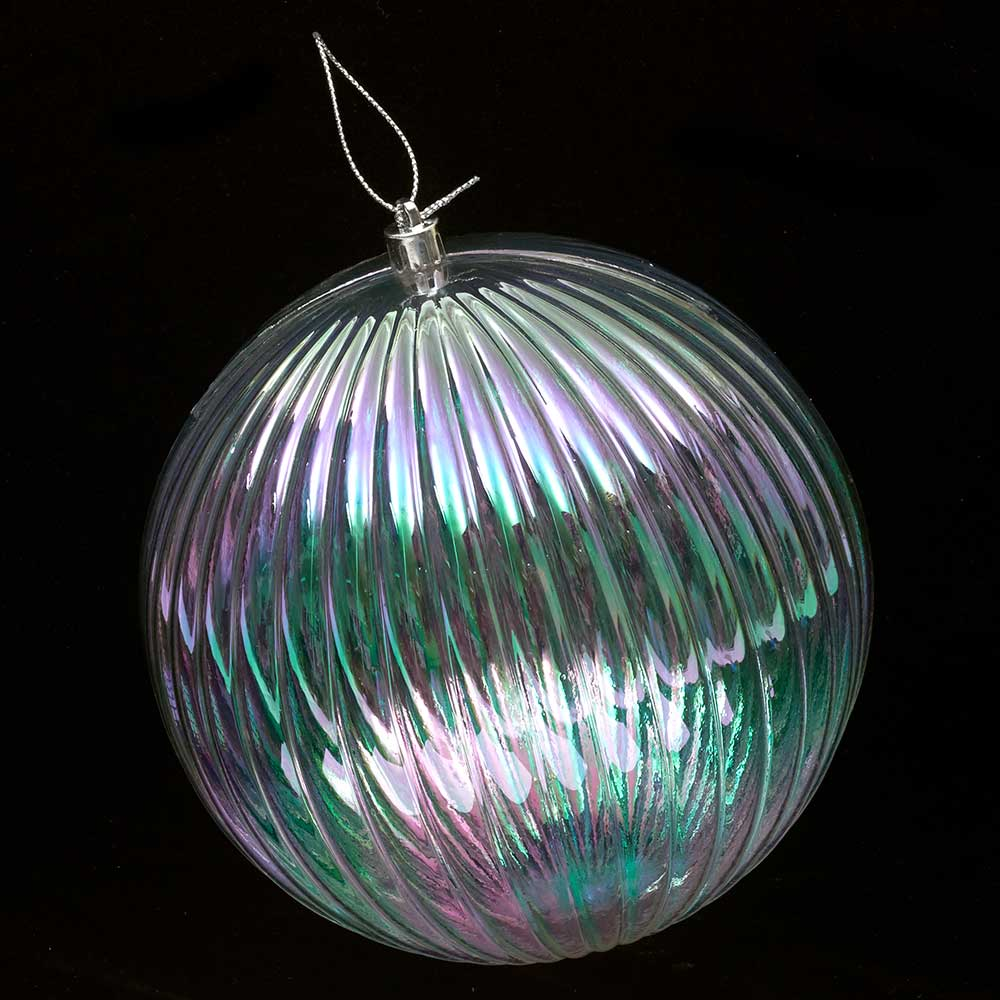 "6"" IRID. BALL ORNAMENT"