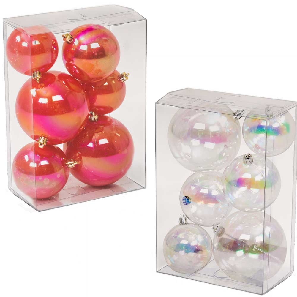"2""-4"" ASSORTED SIZE BALL ORNAMENTS"