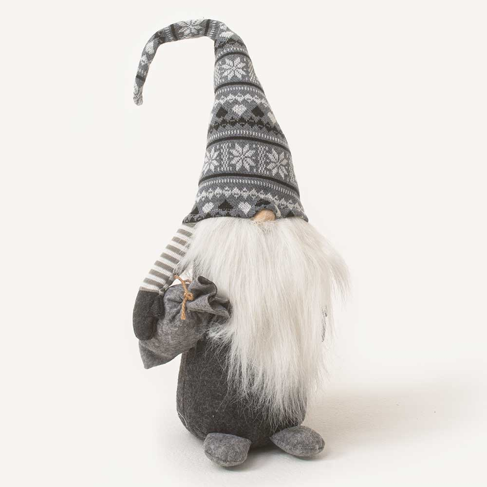 "27"" GRAY SWEATER HAT GNOME"