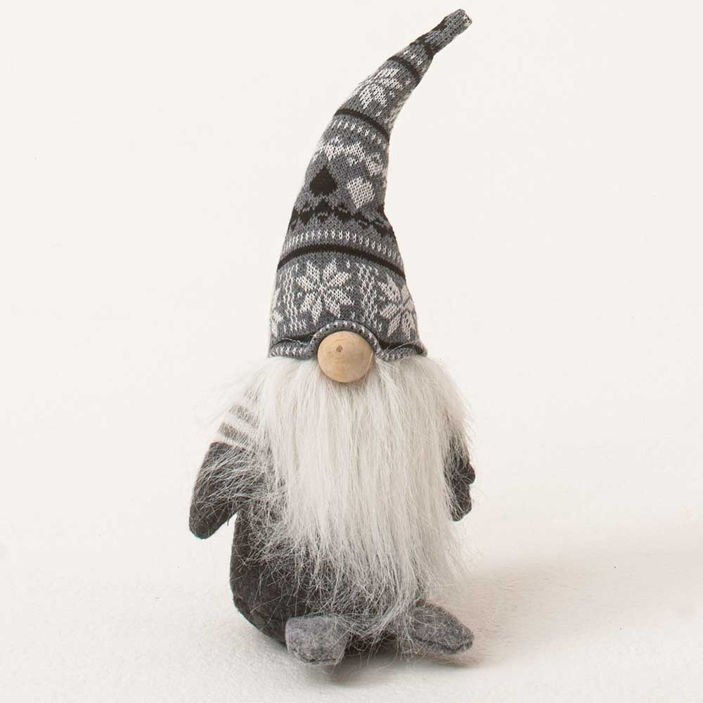 "11"" GRAY SWEATER HAT GNOME"
