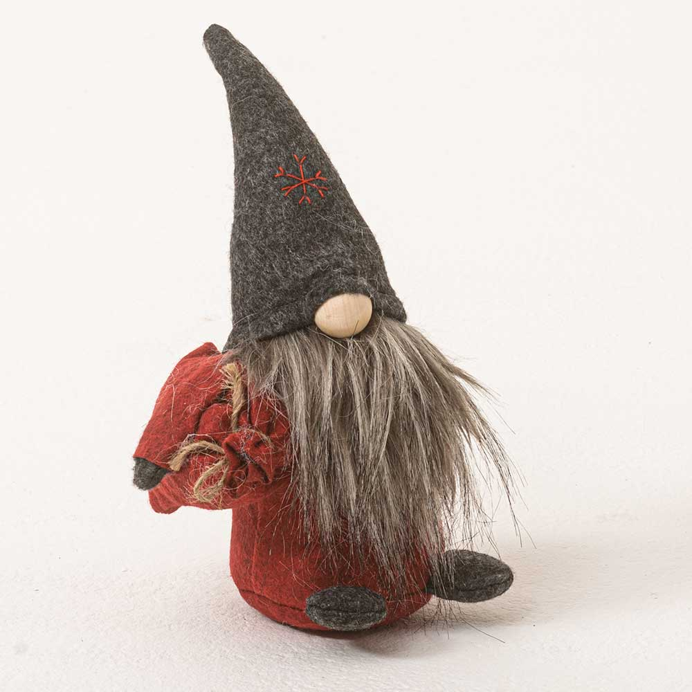 "11"" GNOME WITH GRAY BEARD"