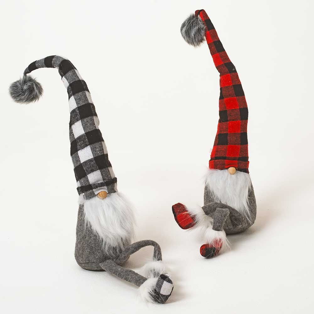 "27"" BUFFALO PLAID GNOMES"