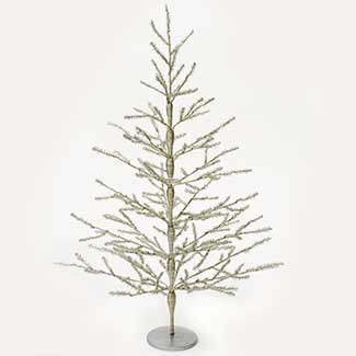 "40""ANTIQUE METAL TREE,SILVER"