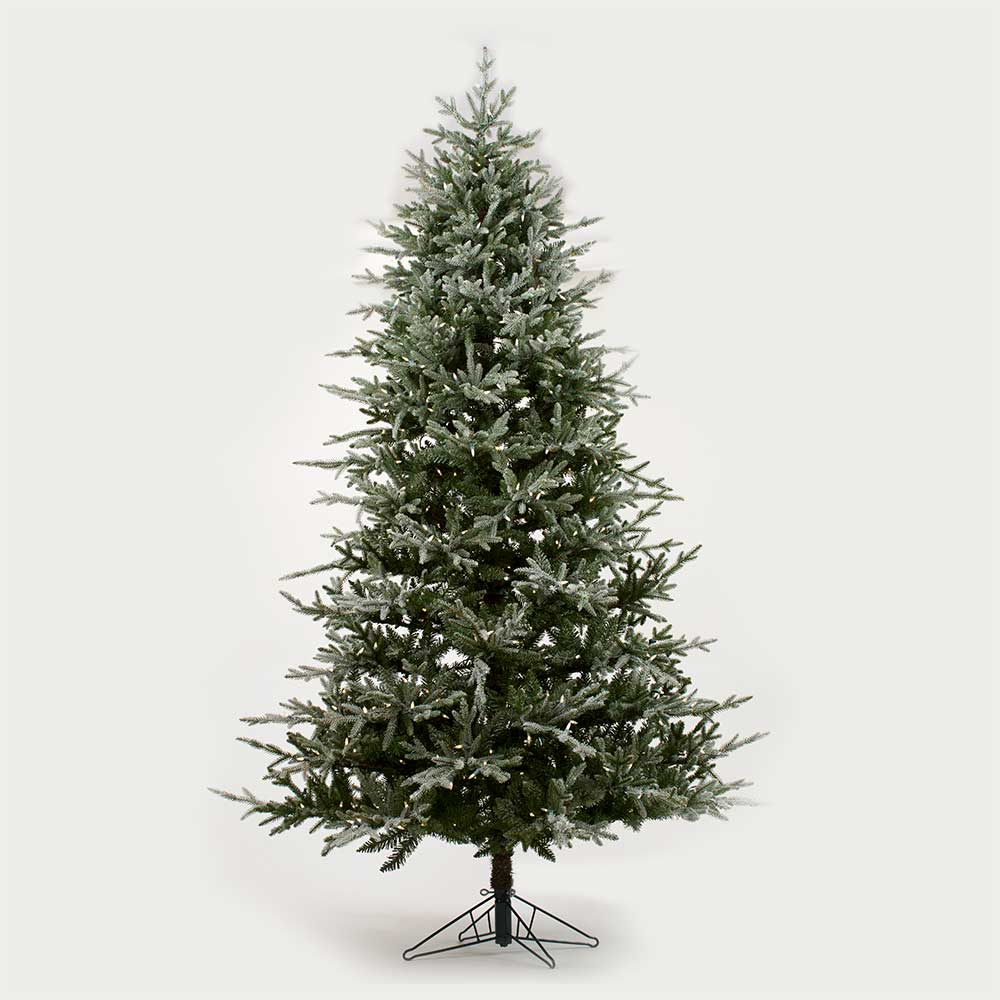 7.5' FLOCKED SPRUCE (700 LEDS